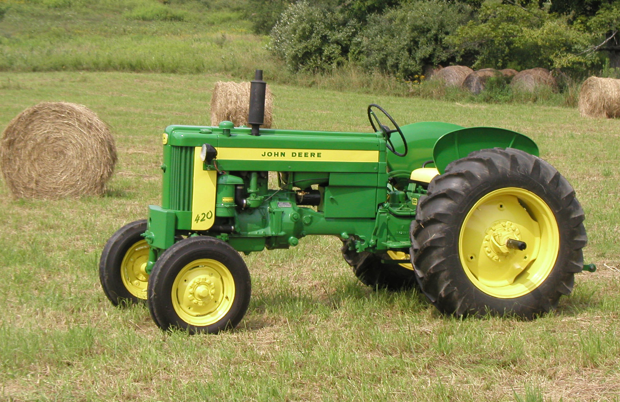 The Model 40 John Deere 420 Tractors And Crawlers 80 Wiring Diagram A Nicely Restored 1958 420w Owned By Good Friend In Very Picturesque Pa Farm Setting